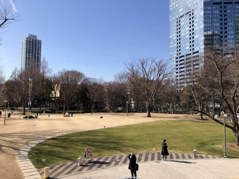 Shinjuku Central Park in winter