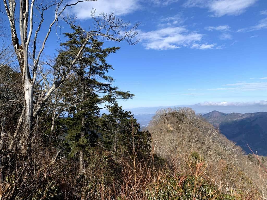 View of Chichibu and Nagano mountains from mount tenmoku