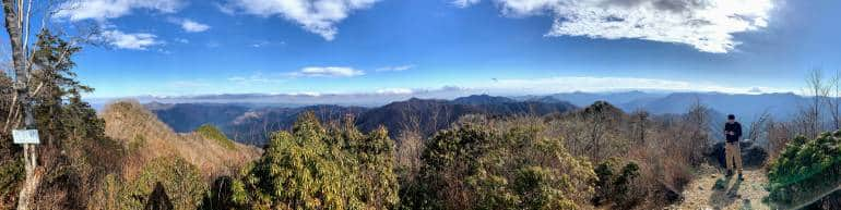 Panorama view from Mount Tenmoku