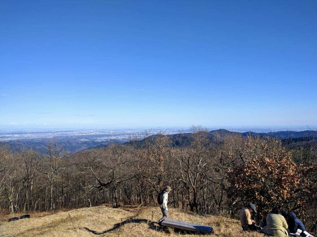 View of Kanto from Mt Jimba summit