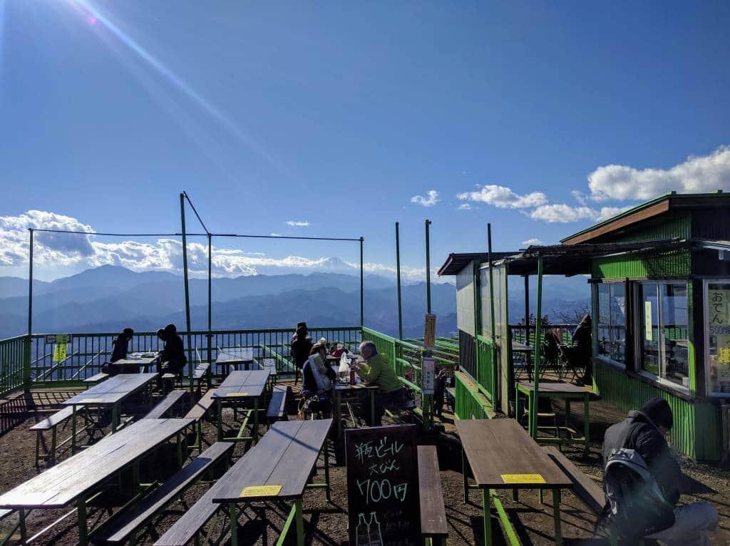Mt fuji view from jimba soba hut