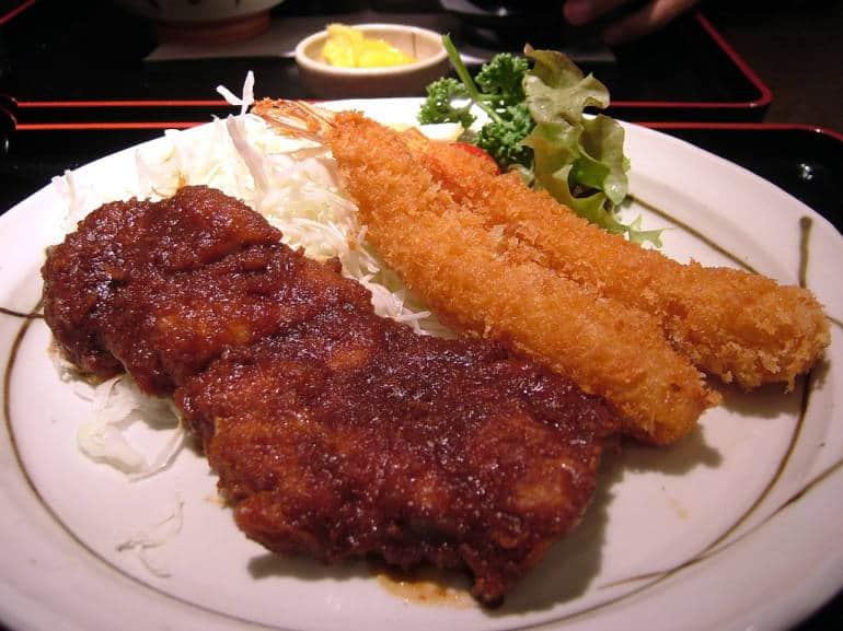 Nagoya Miso Katsu and Ebi fry
