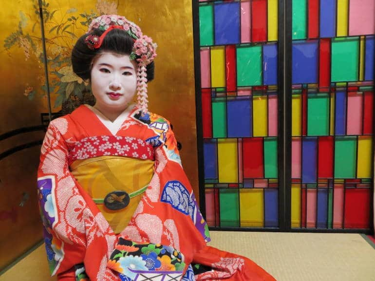 The author's maiko makeover