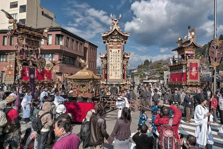 The Takayama Spring Festival/Sanno Matsuri takes place at Hie Shrine