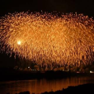 The Chikugogawa Fireworks Festival