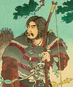 Woodblock photo of Emperor Jimmu from 19th century