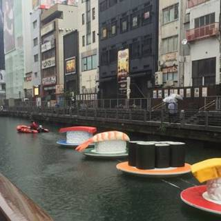 Rolling Down the River: Giant Sushi Edition