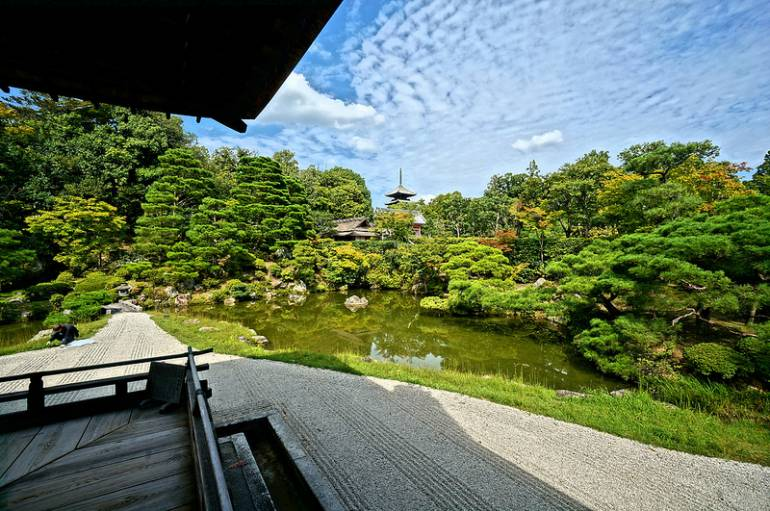 Buddhist Ceremony Traditional Japanese Garden: Ninnaji Temple: Maintaining Zen On A Budget
