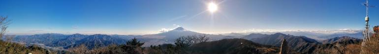 Mitsutoge Panorama view of Mount Fuji