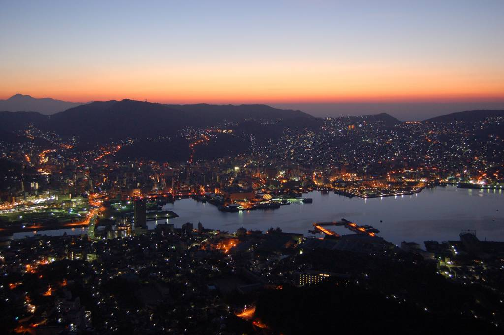 mount inasa night view