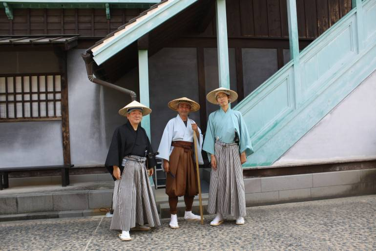 The not so formidable but very friendly samurai guides