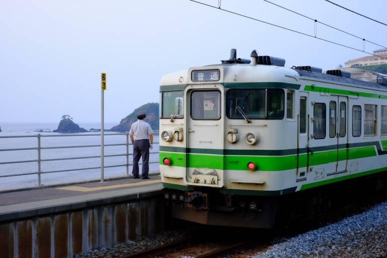 A sleepy station in Niigata.
