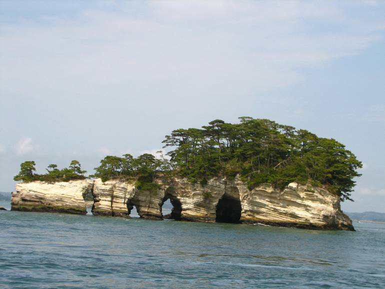 One of the islands at Matsushima.