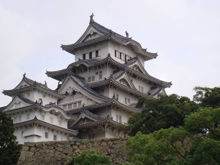 Himeji Castle is an easy daytrip with a JR West Pass.