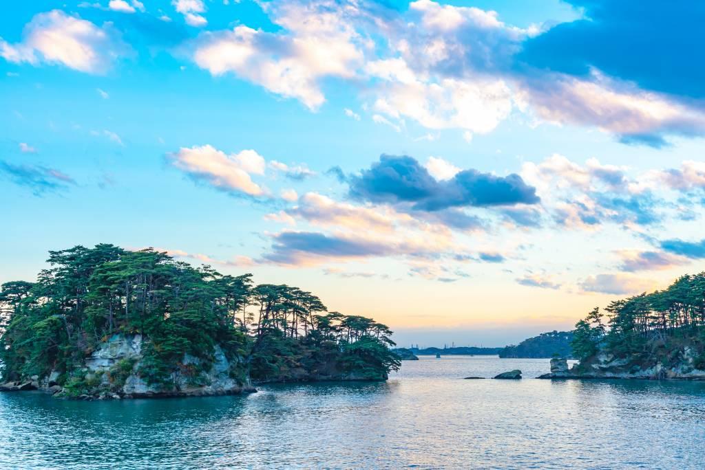 Matsushima Bay with pine trees, Tohoku travel