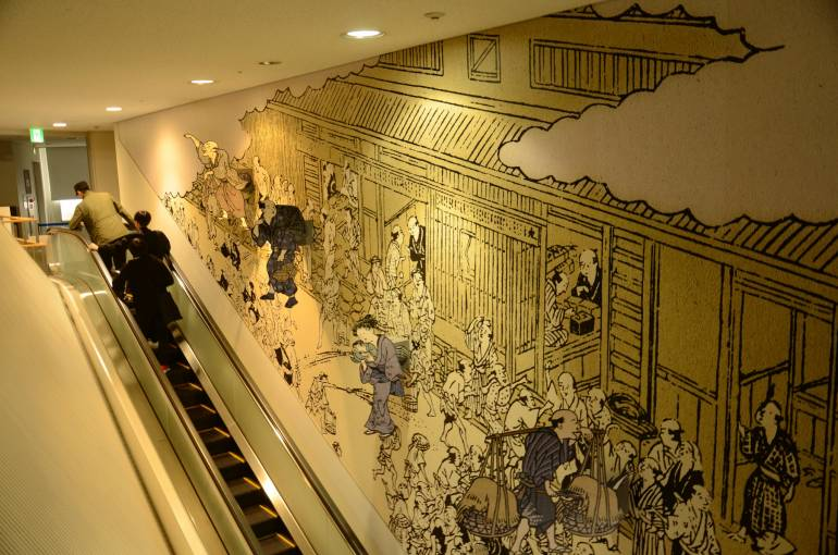 A mural in The Osaka Museum of Housing and Living