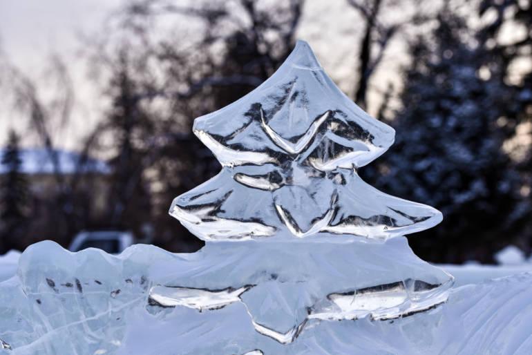 Christmas Ice Sculpture