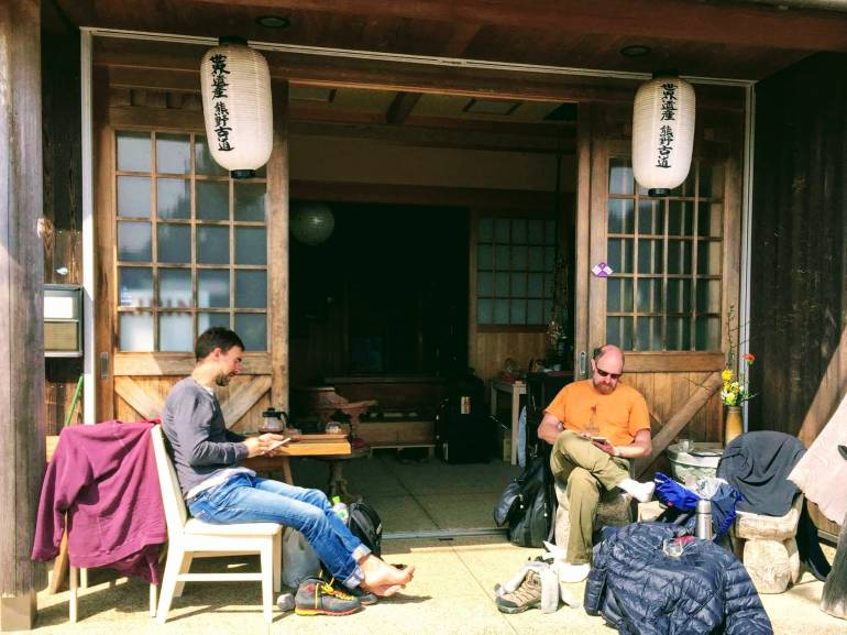 Relaxing at Irorian Minshuku in Kumano Kodo