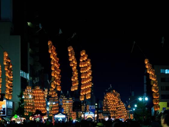 Akita Kanto Festival parade lanterns