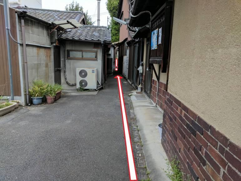 Tiny alleyway