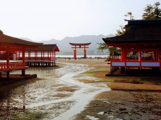 Itsukushima Low Tide in Chugoku region