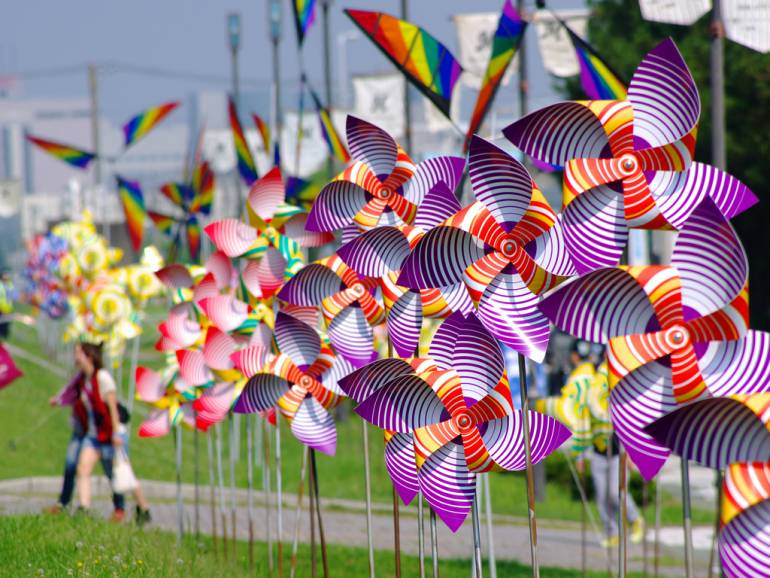 Pinwheels at Summer Sonic