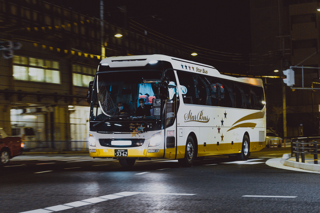 Image result for japan highway night bus