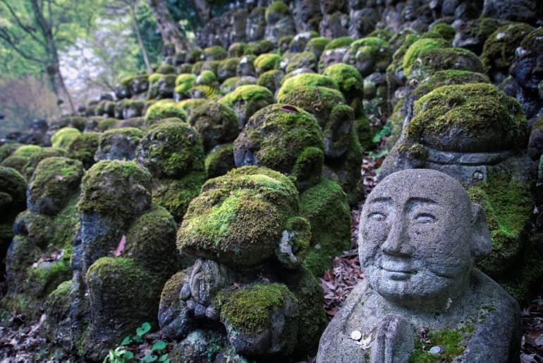 Rakan sculptures in Nenbutsu-ji, Arashiyama, Kyoto