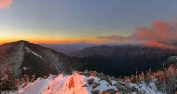 Dawn view from Mt Kobushi