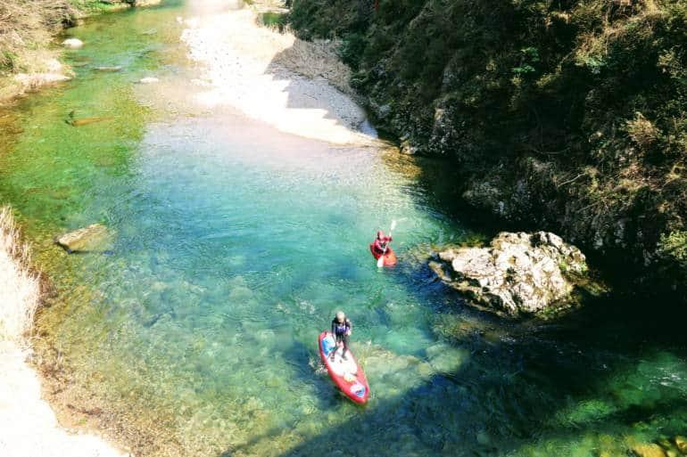 Kayaking in Sandankyo