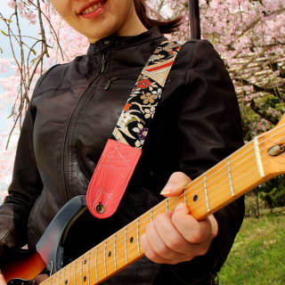 Singing Crane: Transforming Vintage Obi into Beautiful Guitar Straps