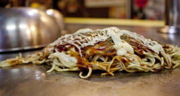 Closer Look at a Delish Okonomiyaki