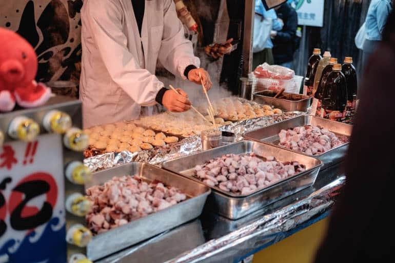 Takoyaki Grill Osaka food