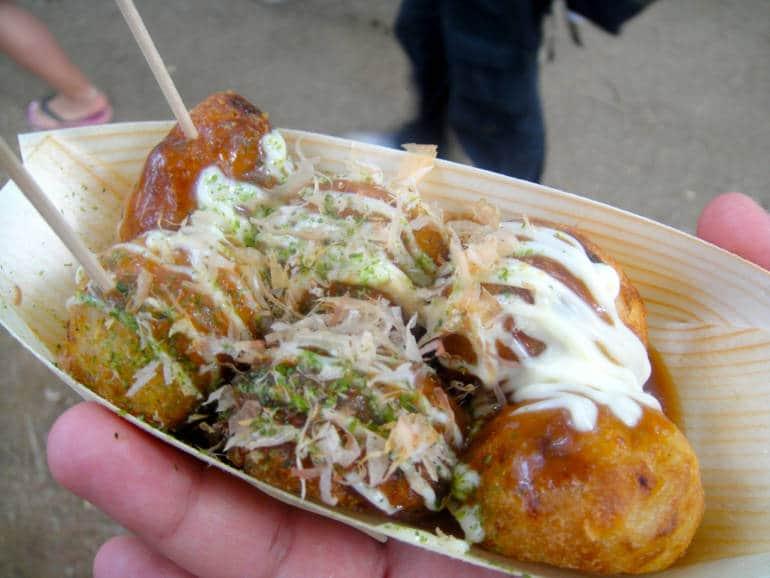 takoyaki Osaka food