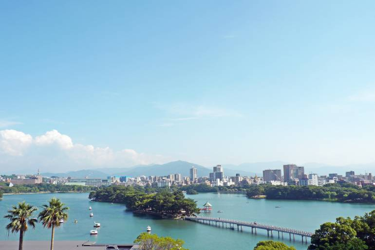 The view of Fukuoka city Japan