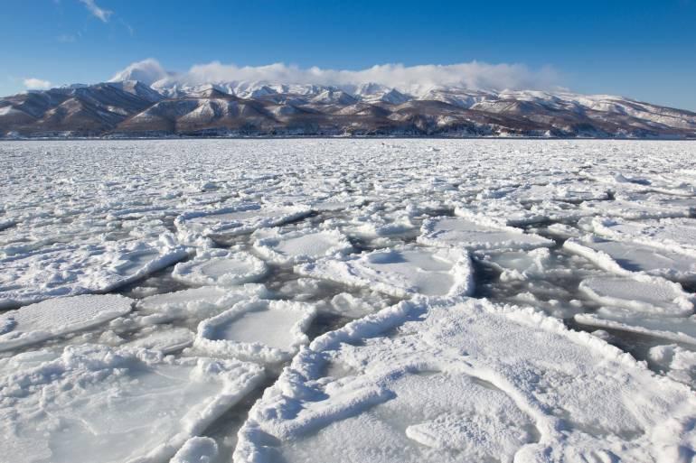 Shiretoko sea ice hokkaido