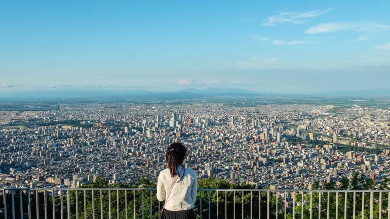 View of Sapporo from Mt Moiwa