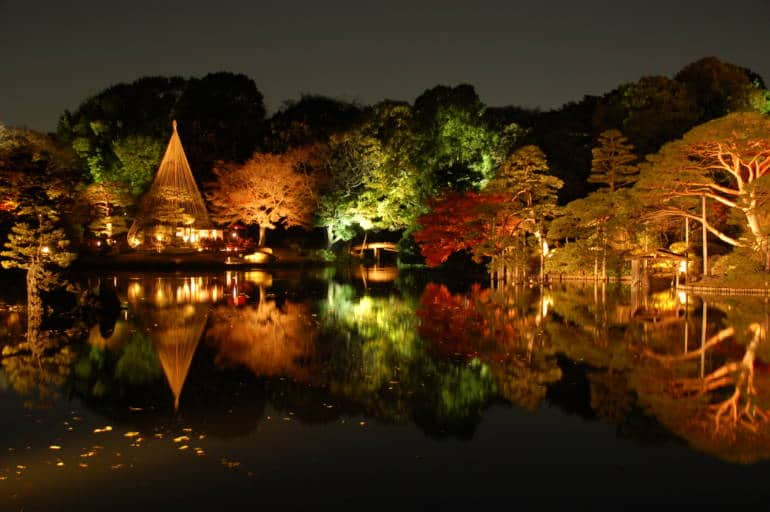 rikugien autumn illumination