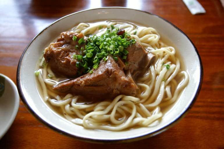 Okinawa soba Japanese soup