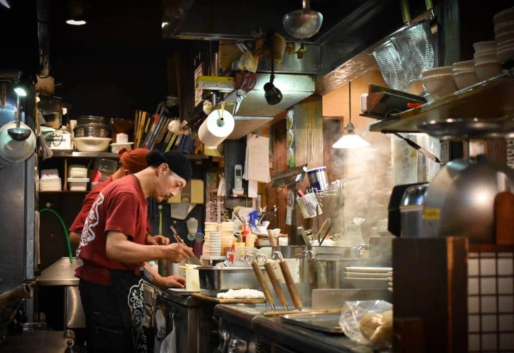 Japanese noodle dish restaurant