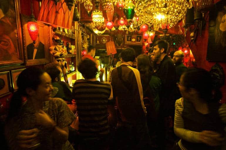 Japan bar with crowd