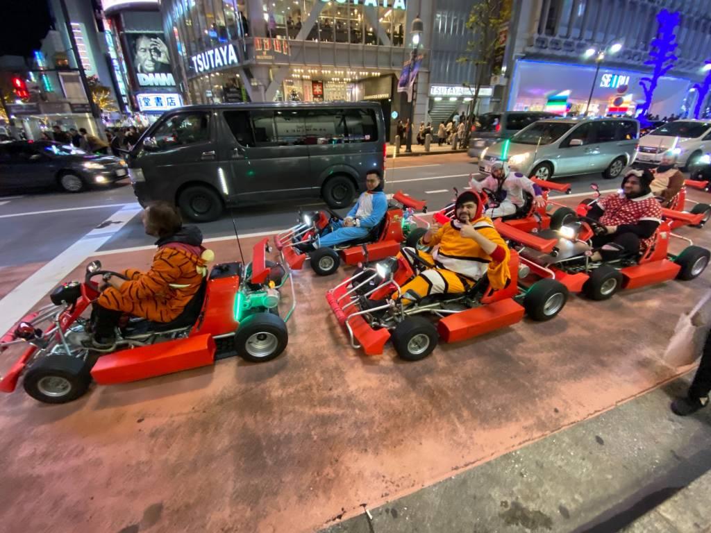 Mario Kart riders in Tokyo