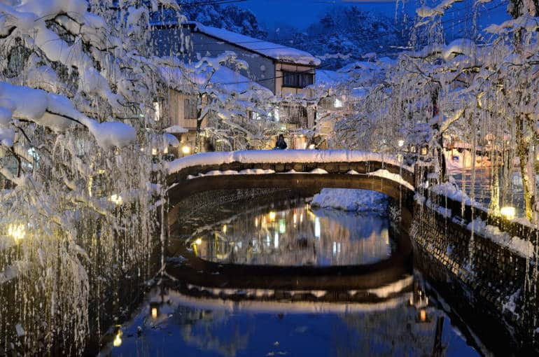 kinosaki onsen in winter