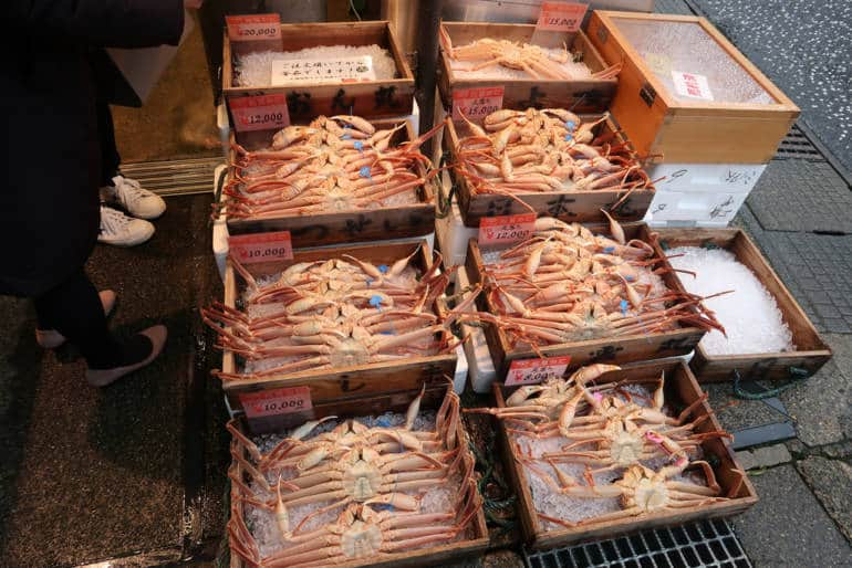 kinosaki onsen snow crab