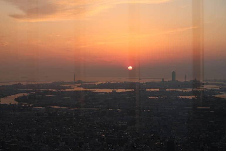 Osaka Bay sunset
