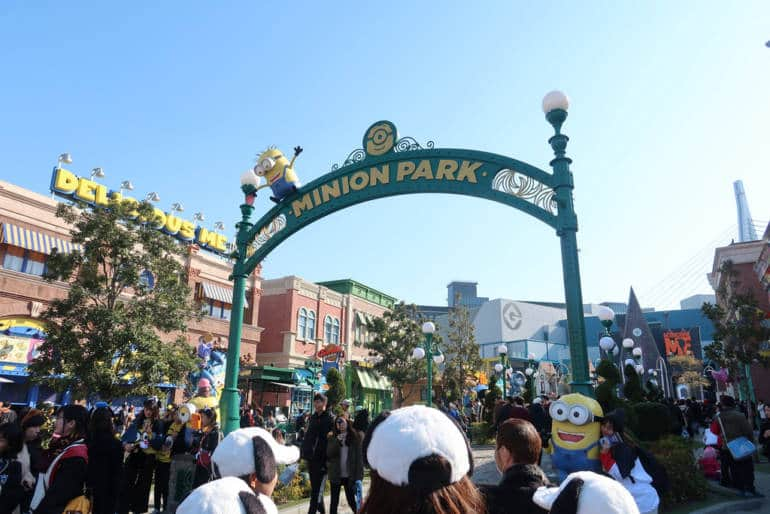 Entrance to the Minion Park at USJ