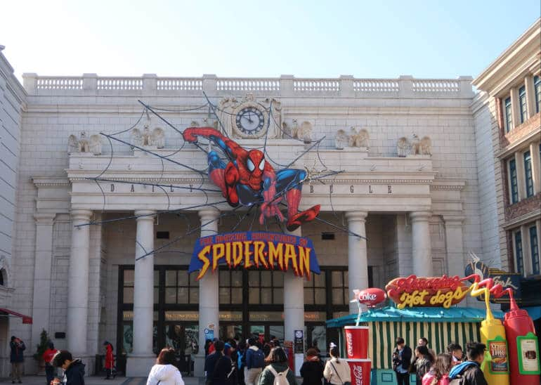 Spiderman attraction at USJ