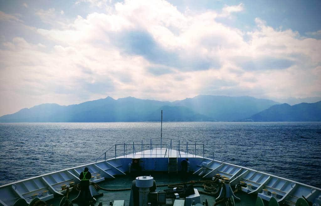 Boat to Yakushima