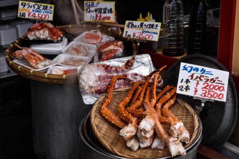 Otaru Hokkaido seafood