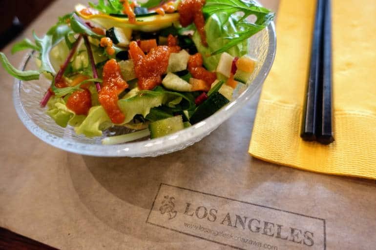 Los Angeles Vegan Restaurant Kanazawa Salad